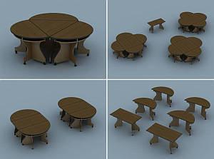 Офисная мебель Модульный стол, исполнение Эконом (12136)