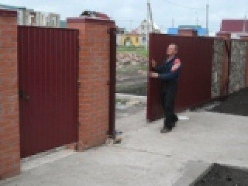 Откатные ворота из профнастила в уфе консольные ворота подольск