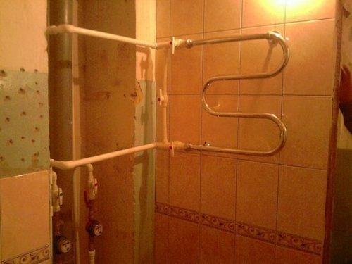 Как сделать полотенцесушитель от стояка горячей воды