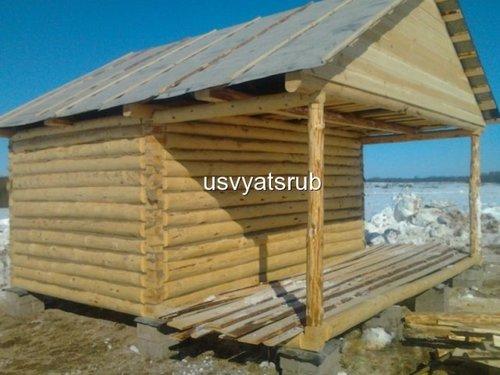 Строительство баня 3х4 терраса 2х4 17642